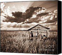 Shed Canvas Prints - Abandoned Canvas Print by Meirion Matthias