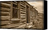 Log Cabin Photo Canvas Prints - Abandoned Canvas Print by Shane Bechler