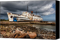 Abandoned  Digital Art Canvas Prints - Abandoned Ship Canvas Print by Adrian Evans