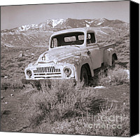 Snow Capped Canvas Prints - Abandoned Truck Canvas Print by Janeen Wassink Searles