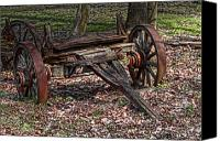 Decaying Canvas Prints - Abandoned Wagon Canvas Print by Tom Mc Nemar