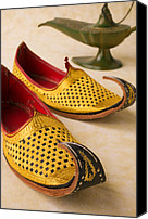 Elegant Canvas Prints - Abarian Shoes Canvas Print by Garry Gay