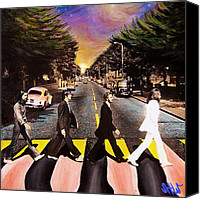 1960 Painting Canvas Prints - Abbey Road Canvas Print by Steve Will
