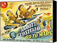 1953 Movies Canvas Prints - Abbott And Costello Go To Mars, Bud Canvas Print by Everett