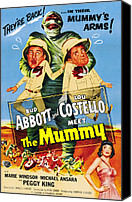 Horror Fantasy Movies Photo Canvas Prints - Abbott And Costello Meet The Mummy Aka Canvas Print by Everett
