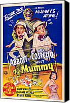 Sweating Canvas Prints - Abbott And Costello Meet The Mummy Canvas Print by Everett