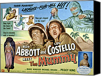 1955 Movies Canvas Prints - Abbott And Costello Meet The Mummy, Lou Canvas Print by Everett