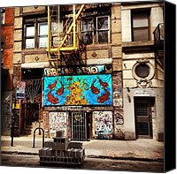 Street Canvas Prints - ABC No Rio - Lower East Side - New York City Canvas Print by Vivienne Gucwa