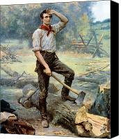 President Painting Canvas Prints - Abe Lincoln The Rail Splitter  Canvas Print by War Is Hell Store