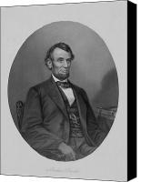 Abe Lincoln Drawings Canvas Prints - Abe Lincoln Canvas Print by War Is Hell Store