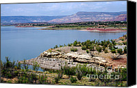 Chama River Canvas Prints - Abiquiu Lake New Mexico Canvas Print by Vicki Pelham