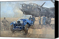 Royal Air Force Canvas Prints - Able Mable and the Blue Lagonda  Canvas Print by Peter Miller