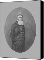 Harpers Ferry Canvas Prints - Abolitionist John Brown Canvas Print by War Is Hell Store