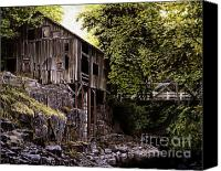 Grist Mill Canvas Prints - Above Cedar Creek Canvas Print by Craig Shillam