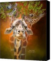 Animal Art Print Mixed Media Canvas Prints - Above It All Canvas Print by Carol Cavalaris