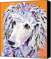 Soft Pastel Pet Portrait Canvas Prints - Above The Standard   Canvas Print by Pat Saunders-White            