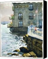 Sausalito Painting Canvas Prints - Above Tide Hotel Canvas Print by John West