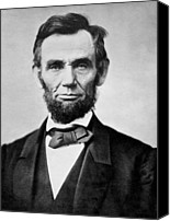Politician Canvas Prints - Abraham Lincoln -  portrait Canvas Print by International  Images
