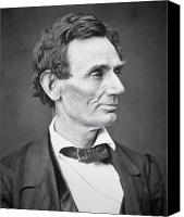 Politics Photo Canvas Prints - Abraham Lincoln Canvas Print by Alexander Hesler