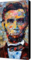 Abraham Canvas Prints - Abraham Lincoln portrait Canvas Print by Debra Hurd