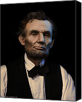 Assassination Canvas Prints - Abraham Lincoln Portrait Canvas Print by Ray Downing