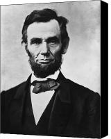 America Tapestries Textiles Canvas Prints - Abraham Lincoln Canvas Print by War Is Hell Store