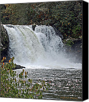 Pioneers Canvas Prints - Abrams Falls Cades Cove TN Canvas Print by DigiArt Diaries by Vicky Browning