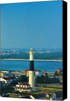 Beach Prints Canvas Prints - Absecon Lighthouse Atlantic City Canvas Print by Bill Cannon