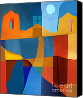 Santa Fe Digital Art Canvas Prints - Abstract # 2 Canvas Print by Elena Nosyreva