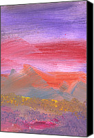 Deliberate Canvas Prints - Abstract - Guash - Lovely meadows 1 of 2 Canvas Print by Mike Savad