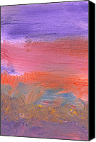 Deliberate Canvas Prints - Abstract - Guash - Lovely meadows 2 of 2 Canvas Print by Mike Savad