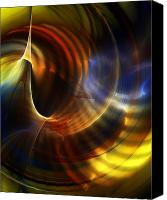 Fine Art Fractal Art Canvas Prints - Abstract 040511 Canvas Print by David Lane
