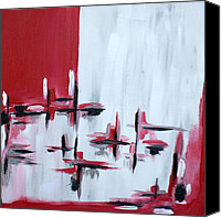 Abstract Expressionist Canvas Prints - Abstract 27 Canvas Print by Sandra Conceicao