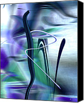 Canvas Greeting Cards Canvas Prints - Abstract 300 Canvas Print by Gerlinde Keating - Keating Associates Inc