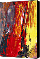 Modernism Canvas Prints - Abstract - Acrylic - Rising power Canvas Print by Mike Savad