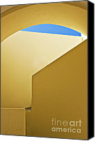 Abstract Building Canvas Prints - Abstract Architecture In Yellow Canvas Print by Meirion Matthias