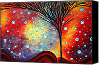 Buy Painting Canvas Prints - Abstract Art Whimsical Landscape Painting MORNING BLISS by MADART Canvas Print by Megan Duncanson