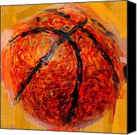 Basketball Canvas Prints - Abstract Basketball Canvas Print by David G Paul
