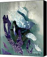 Avant Garde Mixed Media Canvas Prints - Abstract Construction Canvas Print by Sarah Loft
