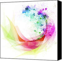Infinity Canvas Prints - Abstract curved Canvas Print by Setsiri Silapasuwanchai
