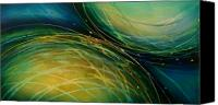 Turquois Canvas Prints - Abstract Design 51 Canvas Print by Michael Lang