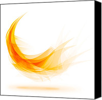 Infinity Canvas Prints - Abstract feather Canvas Print by Setsiri Silapasuwanchai