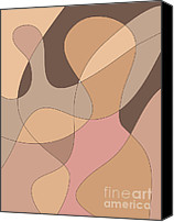 Dave Digital Art Canvas Prints - Abstract Figurative Design Canvas Print by Dave Gordon