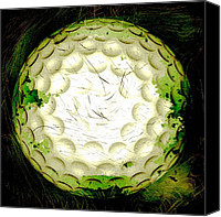 Golfing Canvas Prints - Abstract Golf Ball Canvas Print by David G Paul