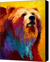 Denali Canvas Prints - Abstract Grizz Canvas Print by Marion Rose
