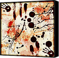 Susan Leggett Digital Art Canvas Prints - Abstract Grunge Background Canvas Print by Susan Leggett