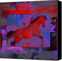Abstract Equine Canvas Prints - Abstract Horse Canvas Print by David G Paul