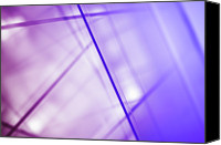 Creativity Canvas Prints - Abstract Intersecting Lines On A Glass Surface Canvas Print by Ralf Hiemisch