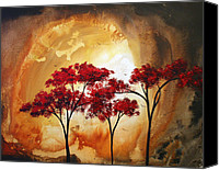 Crimson Canvas Prints - Abstract Landscape Painting EMPTY NEST 2 by MADART Canvas Print by Megan Duncanson