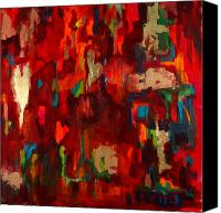 Bold Colors Painting Canvas Prints - Abstract Love Canvas Print by Billie Colson